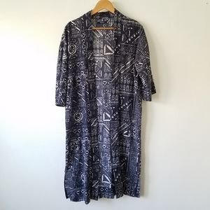 Madewell Geometric Printed Open Front Duster XS/S